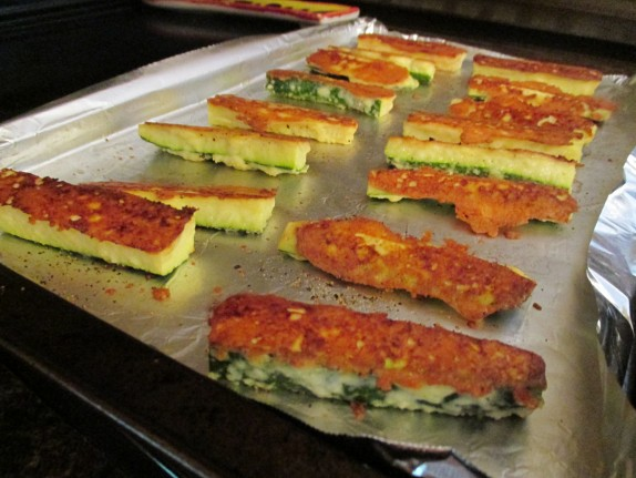 Zucchini Cheese Oven Fries