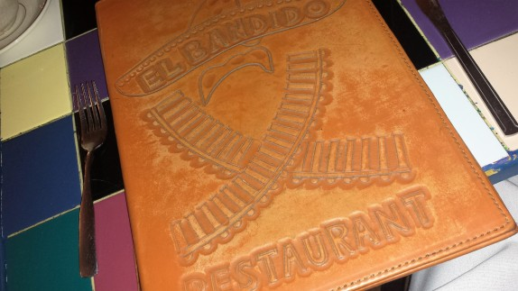 El Bandido Menu Cover