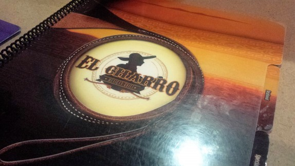 El Charro Menu Cover