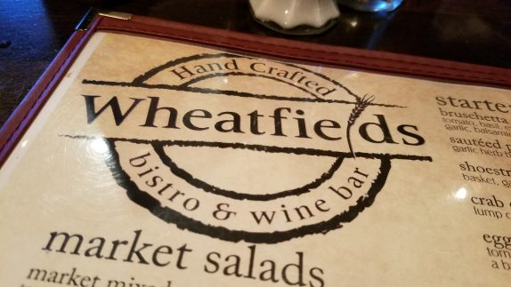 Wheatfields menu