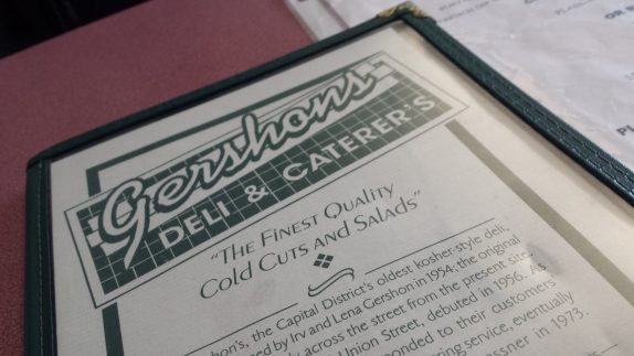 Gershon's Deli Menu Cover