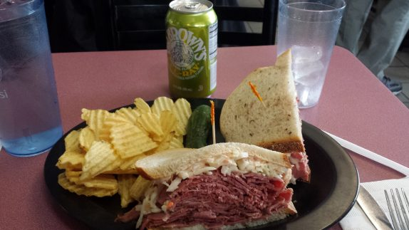Pastrami - Corned Beef Overstuffed Combination Sandwich