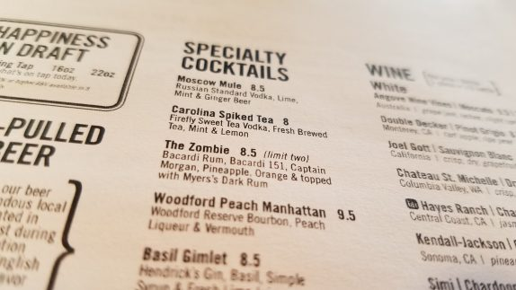 Specialty Cocktails At Brick House
