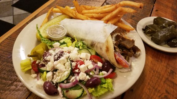Gyro Platter (Greek salad, French Fries)
